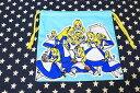 ふしぎの国のアリス ミニ巾着袋 両面プリント アリスいっぱい柄 約20×19センチ ALICE IN WONDERLAND ディズニー 不思議の国のアリス アメリカン アメリカ ディズニーグッズ キャラクター ポップ 巾着 雑貨 ディズニー グッズ