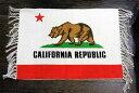 カリフォルニア州旗柄★フロアマット・玄関マットサイズ・約70×50センチ★綿100%★アメリカン雑貨 玄関マット バスマット フラッグ柄…