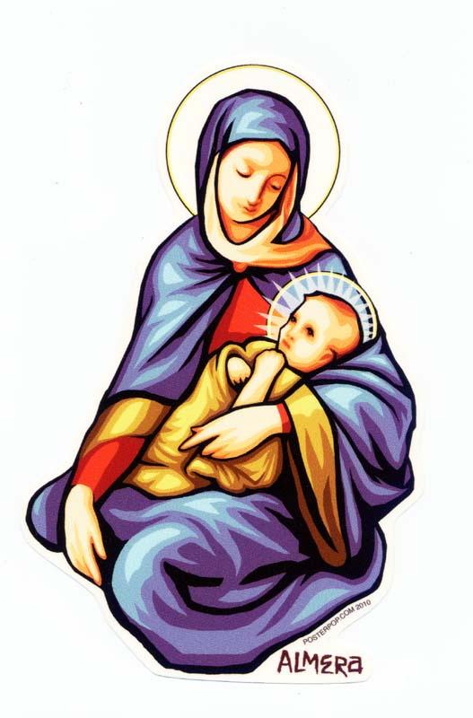 聖母マリア ステッカー 耐水加工 UV加工 検証済み アメリカ直輸入品 アメリカ 雑貨 アメリカン雑貨 マリア 屋外可能