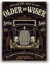 ホットロッド★OLDER & WISER 30's・SPEED SHOP・レトロ調★アメリカンブリキ看板★アメリカ ブリキ看板 アメリカン雑貨 アメリカ雑貨 …
