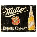 ミラービール レトロ調 Miller Beer アメリカンブリキ看板 アメリカ ブリキ看板 アメリカン雑貨 アメリカ雑貨...