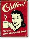 コーヒー系★WOMAN★レトロシリーズ★アメリカンブリキ看板★楽天市場最安値★PointClub5周年★1027PUP10