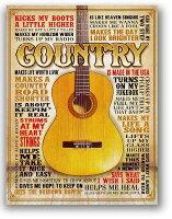 カントリーギター★COUNTRY・楽器系★アメリカンブリキ看板★アメリカブリキ看板アメリカン雑貨アメリカ雑貨サインプレートサインボードティンサインメタルプレート看板