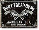 2丁の拳銃★AMERICAN IRON★レトロ調★アメリカンブリキ看板★アメリカ ブリキ看板 アメリカン雑貨 アメリカ雑貨 サインプレート サイ…