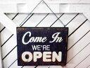 オープン&クローズ 表示ボード 木製壁飾り アメリカン雑貨 アメリカン雑貨 木製ボード プレート 看板 OPEN CLOSED リバーシブル おしゃれ カフェ バー インテリア 店舗
