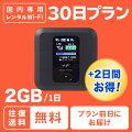 【レンタル wifi】30日 プラン 往復送料無料 1日 2GB目安 ポケット ワイファイ ルーター 1ヶ月 短期...