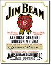 1061Jim Beam White Lavelジムビーム ホワイトラベルアメリカン雑貨 ブリキ看板Tin Sign ティンサイン3枚以上で送料無料!