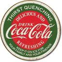 1659Coke Thirst QuenchingCoca Cola コカコーラ コーク ロゴアメリカン雑貨 ブリキ看板Tin Sign ティンサイン3枚以上で送料無料!