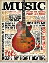 1898Music Inspires Meミュージック エレキギター パネルアメリカン雑貨 ブリキ看板Tin Sign ティンサイン3枚以上で送料無料!