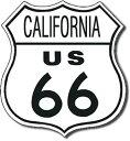 0170US Route 66 CALIFORNIA ルート66 カリフォルニアアメリカン雑貨 ブリキ看板Tin Sign ティンサイン3枚以上で送料無料!