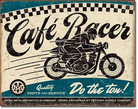 2033Cafe Racerカフェレーサーアメリカン雑貨 ブリキ看板Tin Sign ティンサイン3枚以上で送料無料!