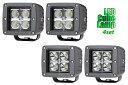 【高輝度Cree LED】【4灯セット】16W コンパクト キューブランプ(10V~32V)(ワークランプ 作業灯 フォグランプ)バイクやオフロード車 フォークリフト ブルドーザー ラッセル車 除雪車 船 クレーン車 積車等に使えます。