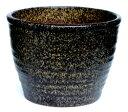 【植木鉢ならガーデン屋】 ネイチャーミドルポット 窯肌 ブラウン 8号 植木鉢 信楽焼 園芸 陶器鉢 ガーデニング - ガーデン屋