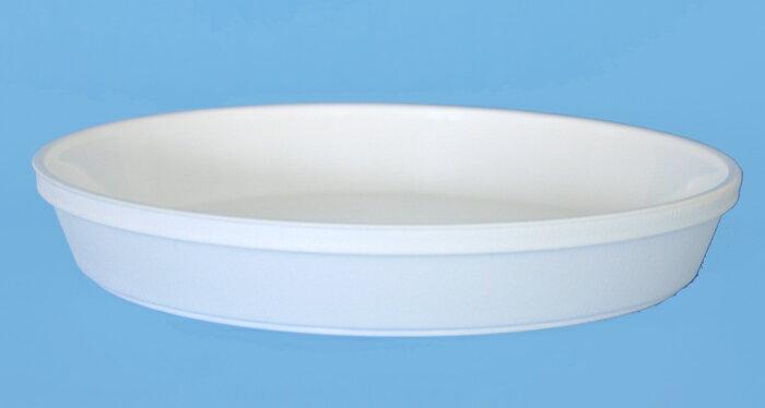 大和プラ鉢皿サルーン8号ホワイト2枚セットシンプルな植木鉢用の受皿です受け皿ソーサープラ鉢プラスチッ