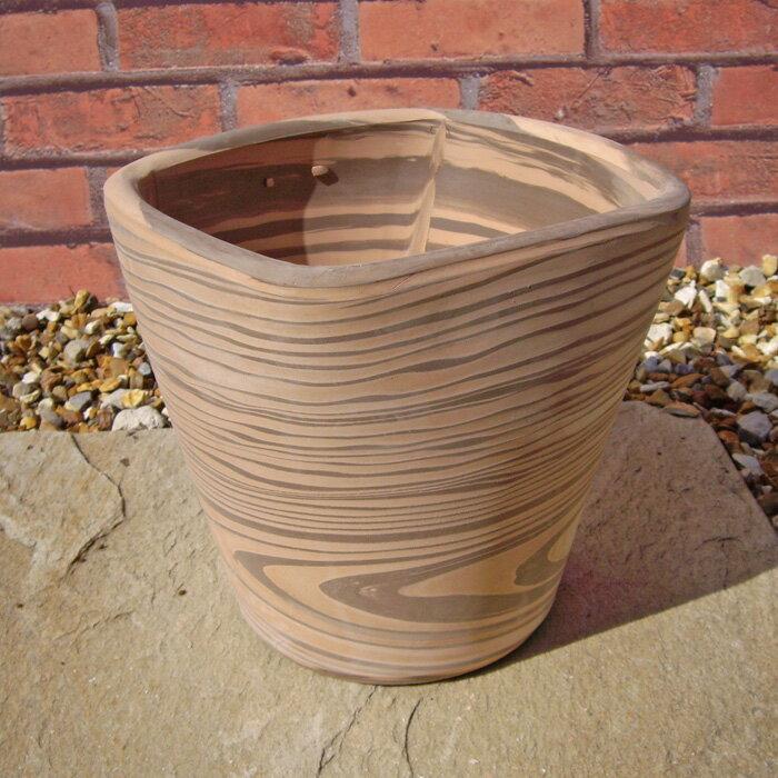 植木鉢 クアドロストライプ 19cm テラコッタ...の商品画像