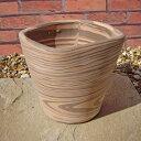 植木鉢 クアドロストライプ 19cm テラコッタ スペイン製 陶器鉢 素焼き鉢 園芸 ガーデニング *Spanish Terracotta*