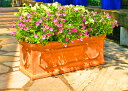 【軽いので移動ラクラク】 植木鉢 フロスト テラコッタ 50cm ファイバークレイ アンティーク調 ...