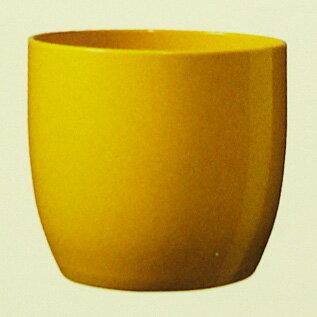 ドイツ製鉢カバーバーゼルイエロー19cm5号鉢用ハイドロカルチャー(水耕栽培)に最適な鉢おしゃれ陶器