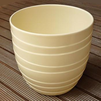 ドイツ製鉢カバーバルレッタバニラ色19cm5号鉢用ハイドロカルチャー(水耕栽培)に最適な植木鉢(容器
