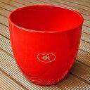 ☆ドイツ製☆ 鉢カバー バーゼル レッド 16cm 4.5号鉢用 ハイドロカルチャー(水耕栽培)に最適な植木鉢(容器) おしゃれ 陶器鉢 Soendgen KeramiK社製