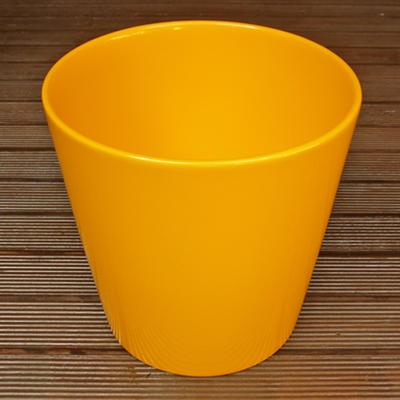 鉢カバーダラスハニーイエロー21cmドイツ製6号鉢用ハイドロカルチャー(水耕栽培)に最適な植木鉢(容