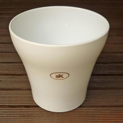 ドイツ製鉢カバールッカホワイト19cm5号鉢用ハイドロカルチャー(水耕栽培)に最適な植木鉢(容器)お