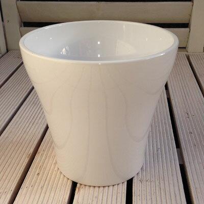 ドイツ製鉢カバールッカホワイト16cm4.5号鉢用ハイドロカルチャー(水耕栽培)に最適な植木鉢(容器