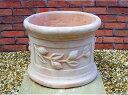 人気のベトナム鉢 〜ブルージュ L40〜 テラコッタ 植木鉢 オリーブ柄のテラコッタです。 果樹の栽培にはもってこい!の植木鉢です。 素焼き鉢 陶器鉢 園芸 ガーデニング Vietmanese Terracotta