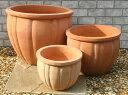 ☆人気のベトナム鉢☆ ハルパ 3点セット 植木鉢 テラコッタ 素焼き鉢 陶器鉢 園芸 ガーデニング* Vietmanese Terracotta * T05P20May16