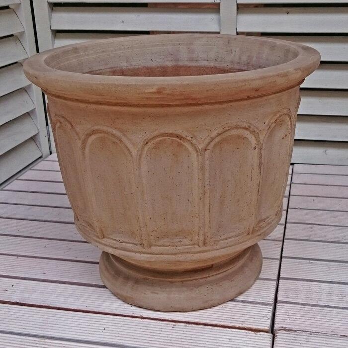 人気のベトナム鉢フィリー(ショコラ)M38プランターヨーロピアンテラコッタ植木鉢素焼き鉢陶器鉢園芸ガ