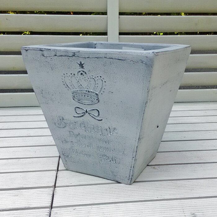 植木鉢セレスアイスウォッシュ色25cmFEI-SB-16-002Pおしゃれヨーロピアンなテラコッタ角