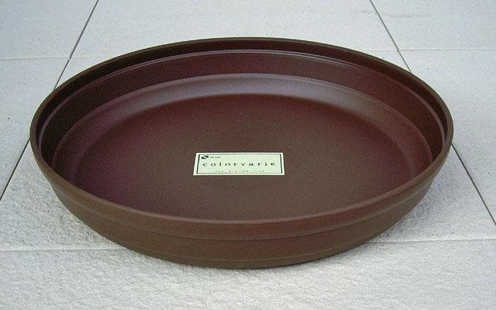 リッチェルカラーバリエ受皿Cブラウン6号受け皿鉢皿シンプルなスタイルの可愛らしいプラスチック受皿です