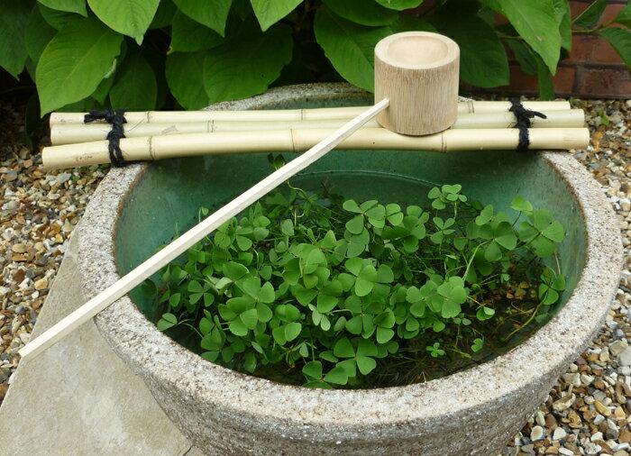 竹製ひしゃくセット 15〜17号用。