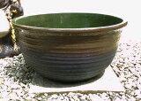 【人気の睡蓮鉢です】睡蓮鉢 JKS−L 茶 16号 ビオトープ創りに! 陶器鉢 園芸 ガーデニング 水生植物 和風庭園 シンプルモダン スイレン鉢 すいれん鉢 メダカ鉢 めだか鉢