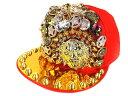 ショッピング父の日 オラオラ系 ヤクザ ヤンキー 帽子78赤 超ゴージャストゲトゲ&豪華スタッズキャップ ちょいワル 悪羅悪羅系