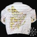 昇り龍柄 中綿ジャケット 黒 和柄 服 オラオラ系 悪羅悪羅系 ヤクザ ヤンキー チョイ悪 チョイワル 派手 メンズ ファッション