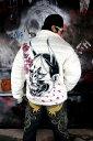 ショッピングssd 般若 桜吹雪 中綿 ソフトボア ジャケット ヤクザ ヤンキー オラオラ 悪羅悪羅 オラオラ系 服 白 DJ-136 派手 防寒 秋冬物 メンズ ファッション