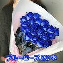 ブルーローズ 20本 花束 オランダ産の 青いバラ ギフト 送別 卒業 青バラ 花 バラ ブーケ お花 フラワー お返し おすすめ 人気 プレゼント 歓送迎 退職 開店祝い 結婚祝い