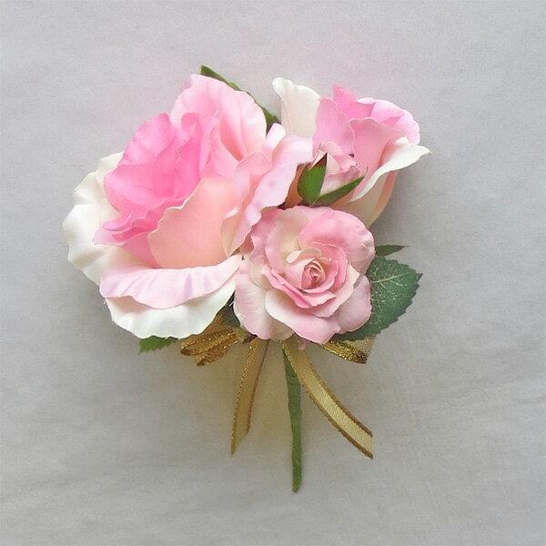 ウエディングブーケ/ブライダルブーケ/ブートニア ピンク&ピンク【bouqet】
