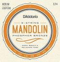 D'Addario・ダダリオ / EJ74 Mandolin Family マンドリン用弦 Mandolin Strings, Phosphor Bronze, Medium, 11-40 4本セット