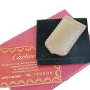 送料無料 【中古】 美品 カルティエ Cartier マネークリップ 財布 マグネット ブラウ