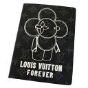 【中古】 未使用 ルイヴィトン LOUIS VUITTON ノート メモ帳 ヴィヴィエンヌ モノグラム エクリプス レザー 2018年限定 GI0285 36EJ704