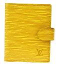 【中古】 外美品 ルイヴィトン LOUIS VUITTON アジェンダ ミニ 手帳カバー エピ タッシリイエロー レザー R20079 07MI248