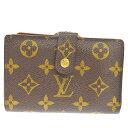 【中古】 ルイ・ヴィトン(Louis Vuitton) モノグラム ポルトフォイユ ヴィエノワ M61674 PVC,レザー 中財布(二つ折り) ブラウン 01GC809
