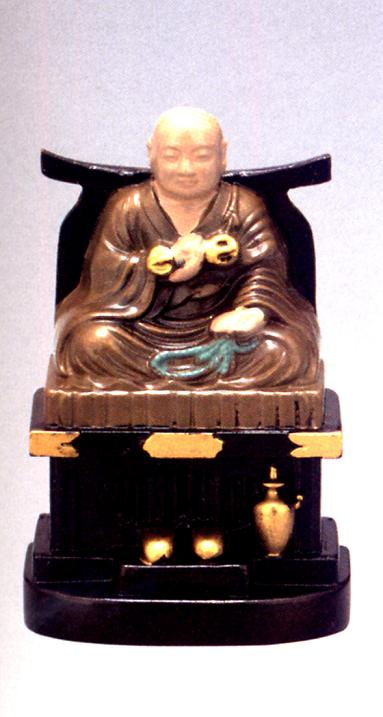 仏像■ 弘法大師座像 彩色 5.8■合金製 【高...の商品画像