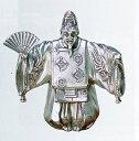 縁起物 吉祥■ 舞翁 ■渡辺景秋作■銀(シルバー)製 桐箱入り【高岡銅器】