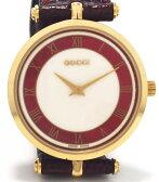 美品 グッチ 腕時計 2040 メンズ オールドグッチ 時計 アンディーク レザーベルト 革ベルト ウォッチ GUCCI 型押しレザー クォーツ【中古】
