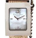 ディオール 腕時計 レディース ダイヤモンド 時計 ウォッチ クリスチャンディオール Dior DIOR CD シェル文字盤 D108-109 マリススクエア 【中古】