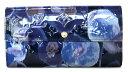 ショッピングヴェルニ ルイヴィトン 長財布 ポルトフォイユイユ サラ ヴェルニ M90021 花柄 フラワー イカットフラワー モノグラム 財布 ブルー レディース ルイビトン LOUIS VUITTON 【中古】