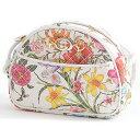グッチGUCCI花柄フローラミニショルダーバッグレディースキルティングキャンバスホワイト×マルチカラー534951【中古】